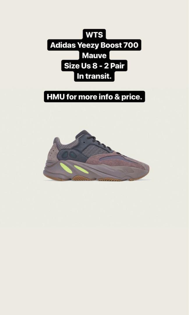 67cb66ce WTS Adidas Yeezy Boost 700 Mauve - US 8, Men's Fashion, Footwear ...
