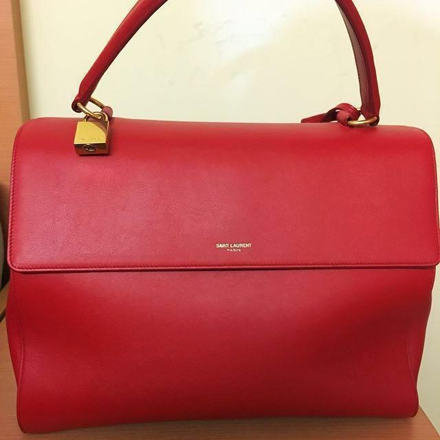 YSL Saint Laurent Moujik Tote Bag (Medium) - RED, Women s Fashion, Bags    Wallets on Carousell 38e6a64e51