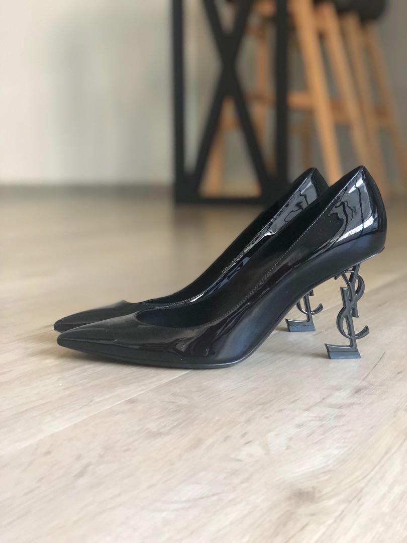 a62f3daa79f6 YSL Saint Laurent Opyum Heels 85mm Black Patent sz38.5