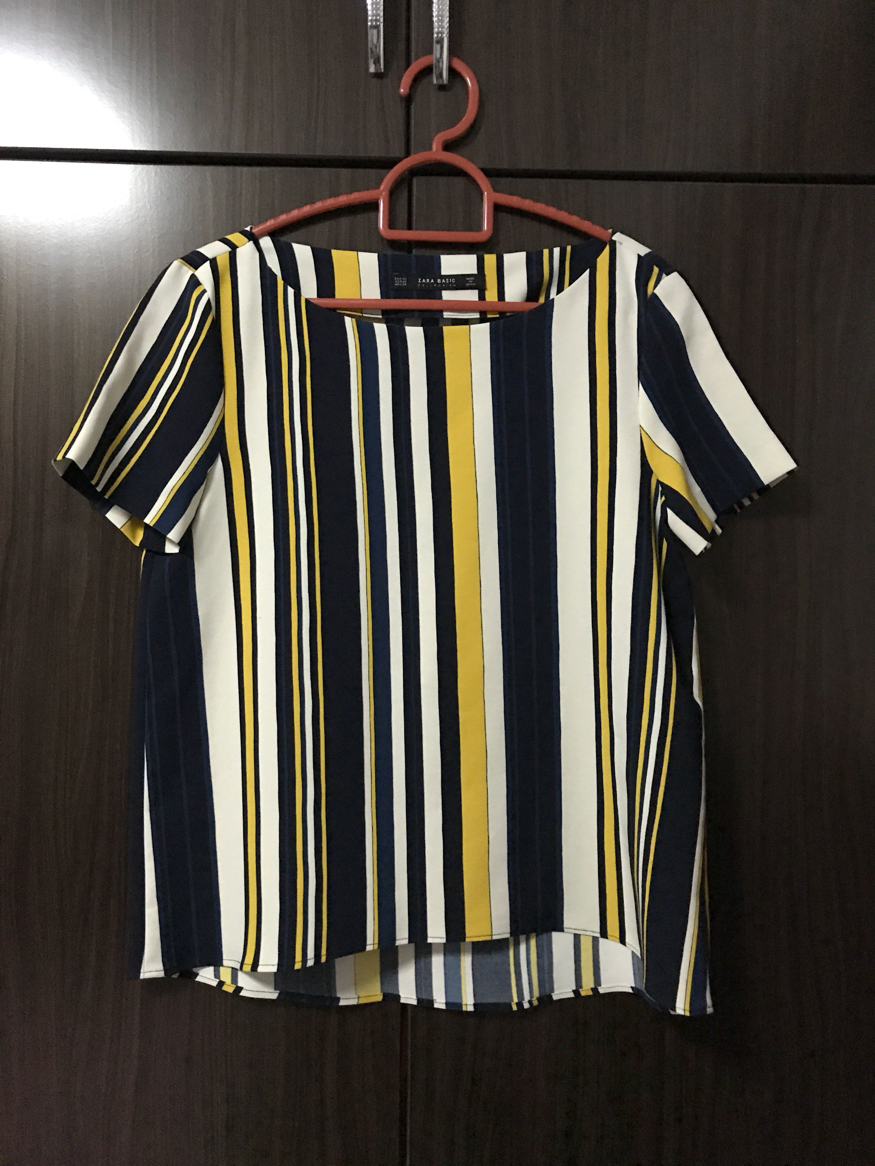 2cb5180afce Zara striped boat neck top XS, Women's Fashion, Clothes, Tops on ...