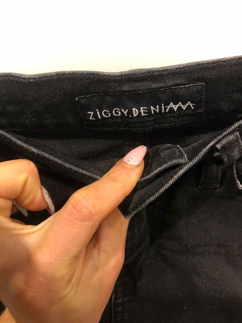 Ziggy denim black short skirt