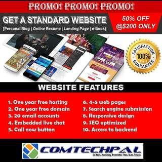 Website Design (Free Domain, SSL, Hosting)