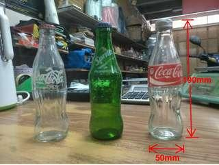 Coca Cola and Sprite Glass Bottles