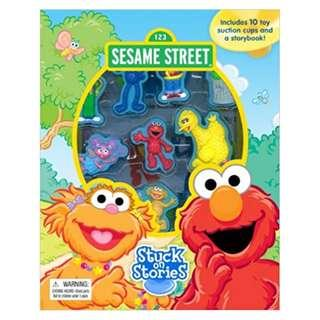 [Sesame Street] Stuck on Stories -10 Disney Suction Cups and a Storybook