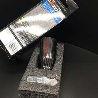 RAZO Carbon Fibre Shift Knob (Universal fit)  c/w Red Stitches Sports shifter boot cover