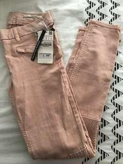 Pink Zara skinny jeans