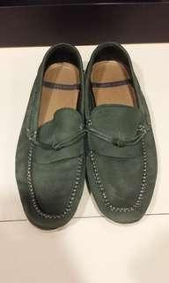 ZARA MAN loafers Sz 42 (army green)