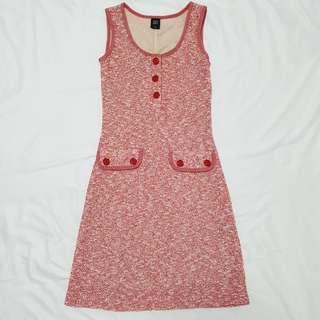 GG5 Tweed Dress (Red)