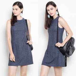 Shopsassydream Mayden Dress Navy Tweed XS