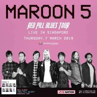 [CAT 1 & 2] Maroon 5 'Red Pill Blues Tour' Live in Singapore
