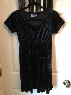 American Apparel velvet dress size M