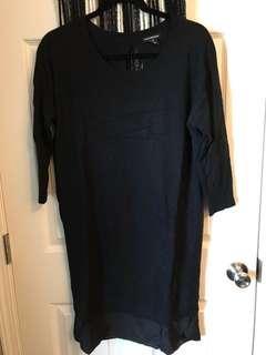Club Monaco silk accent dress size M
