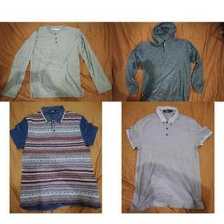 Bundle package – 2 collar tshirt, jumper, longsleeve