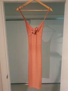RRP $80 BNWT Mink Pink lace up midi dress