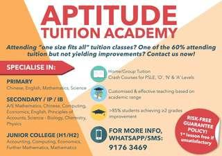 Refundable Math & Science Tuition (Primary, Secondary and Junior College Tuition) (8 Years of Experience)