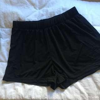 Basic Black Flowy Shorts