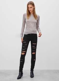 Rag & Bone Thrasher Jeans in black