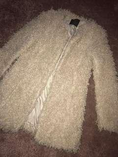 Zara shag/ teddy/ fur coat