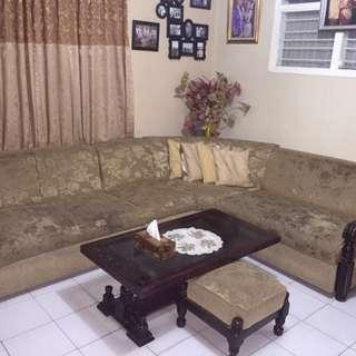 Murahh!!!!Sofa Ruang Tamu bentuk L, 6 seater