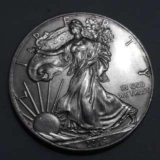 2014 1oz Liberty Silver coin