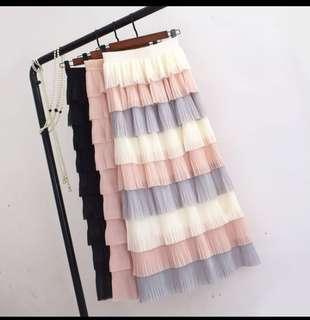 🚚 Black Multi-tier Cupcake Skirt