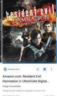 Looking for resident evil damnation blu ray