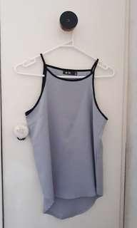Bluey/grey dress top