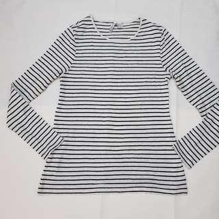 H &M long sleeves stripe blouse