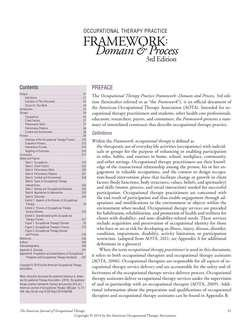 OTPF 3 - OT Practice Framework- Domain & Process 3rd Edition