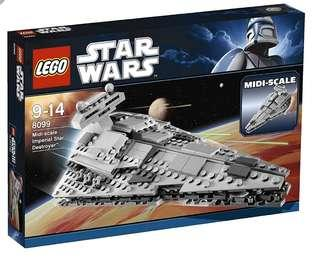 Lego Star Wars 8099 Mini Scale Imperial Star Destroyer 2010 Limited Edition Set.