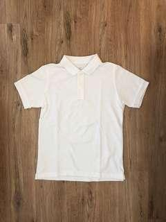 🚚 Lativ白色短袖polo衫(幾乎全新)