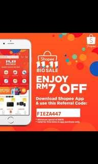 Shopee first time users