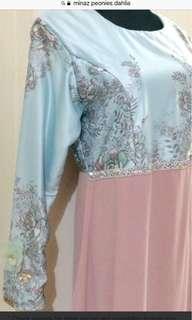 Minaz Peonies Dahlia Dress