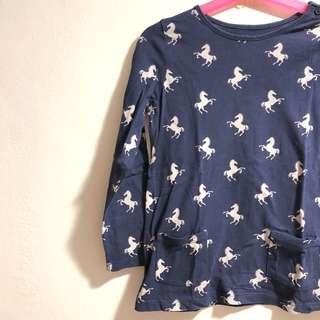 Gap Kids Long sleeve top with horse or unicorn print