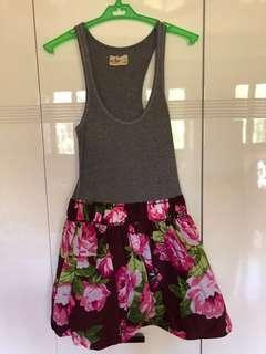 Hollister Floral Racerback Dress