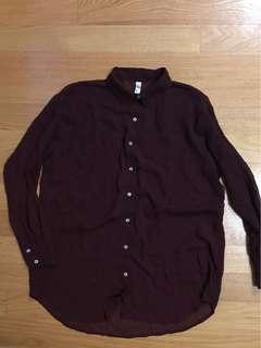 American apparel chiffon button up shirt