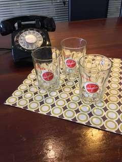 Sinalco collectible drink glass from 60s