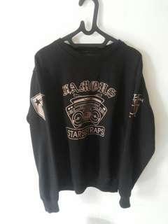 Sweater Motif Gold Bordir Famous Not Original(Re Sale)