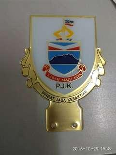 PJK SABAH Custom Make Emblem Badge Logo Car Number Plate