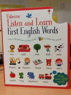 Children book - listen and learn first english words