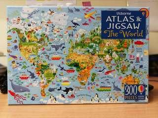 300 pieces the world atlas and jigsae puzzle