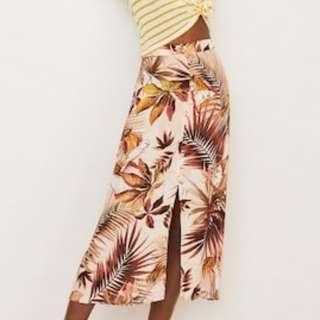 MANGO Printed Long Skirt