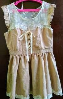 LIZ LISA lace up mini dress / long top