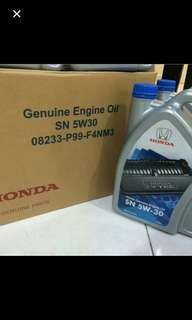 Honda oil engine semi synthetic 5w30