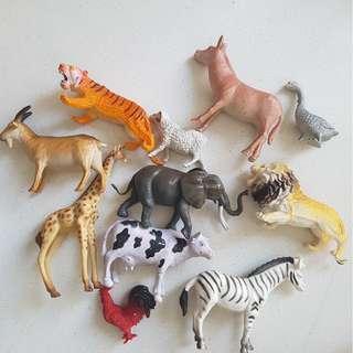 Plastic animals