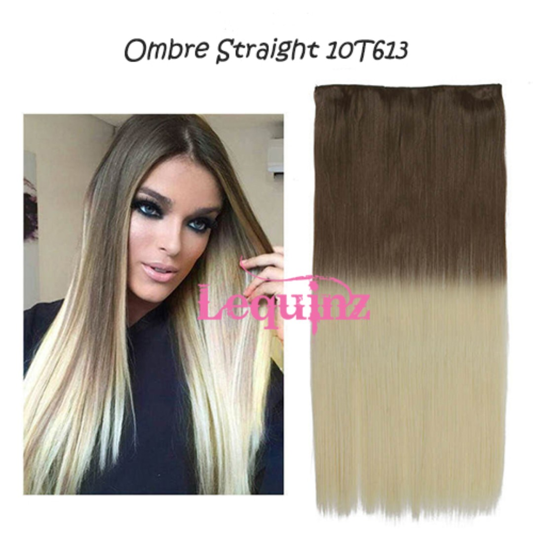 Ombre Straight Hair Extensions Caramel Brown To Blonde 10t613