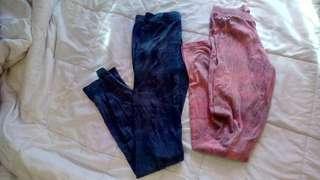 Tie dye leggings size 8