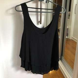 Mossimo Black Two Layer Top