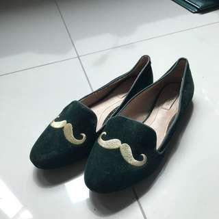 Zara Suede Mustache Loafers