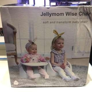 Jellymom Wise Chair 韓國多功能便攜式安全餐椅 (淺綠)